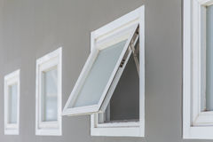 Awning window open. Awning window open, modern home aluminium push windows Stock Photography