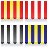 Awnings. Collection of various colored awnings Royalty Free Stock Photography