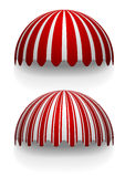 Awnings. Detailed illustration of round striped awnings Royalty Free Stock Image