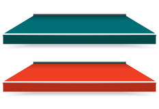 Awnings. Colorful set of single color awnings Stock Photography