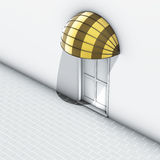 Awnings yellow stripe. 3d illustration awnings yellow stripe with door Stock Photography