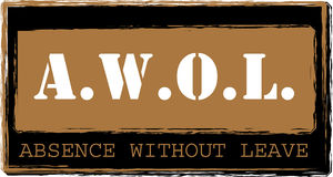 AWOL - Absence without leave stamp vector. A.W.O.L. - Absence without leave stamp Royalty Free Illustration