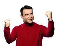 Awsome caucasian man expressive winning Stock Image