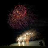 Awsome Fireworks Background Royalty Free Stock Images