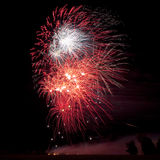 Awsome Fireworks Background Royalty Free Stock Photography
