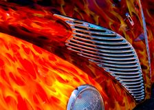 Flames to die for 2. An awsome flame paint job on a 1939 Ford streetrod at the Louisville Streetrod and Hotrod show in 2006 Stock Images