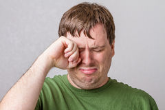 Aww poor little cry baby Stock Image