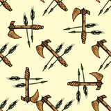 Ax and arrows seamless pattern background Royalty Free Stock Photo