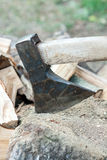 Ax as a tool for chopping wood Stock Images