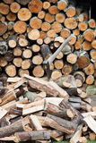 Ax as a tool for chopping wood Stock Photos