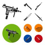 Ax, automatic, sniper rifle, combat knife. Weapons set collection icons in black,flat style vector symbol stock stock illustration