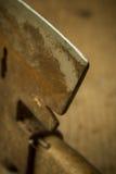 Ax blade close up Royalty Free Stock Photo