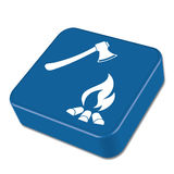 The ax and campfire icon Royalty Free Stock Images