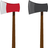 Ax Colors. Isolated ax in two colors Stock Images