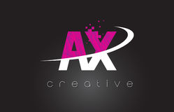 AX A X Creative Letters Design With White Pink Colors Royalty Free Stock Images