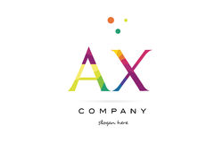 Ax a x  creative rainbow colors alphabet letter logo icon Royalty Free Stock Images