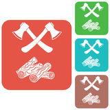The ax and firewood icon Royalty Free Stock Photo