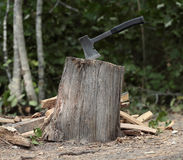 Ax for firewood Royalty Free Stock Photos