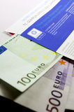 Ax Free envelope with thousands of eur Stock Images