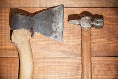 Ax and hammer Royalty Free Stock Photography