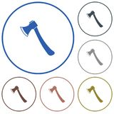 The ax icon. Axe symbol Stock Photography