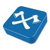 The ax icon. Axe symbol. Flat. Vector illustration Stock Photography