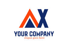 AX  Letter Logo Design Vector Royalty Free Stock Image