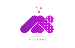 Ax a x pink dots letter logo alphabet icon Royalty Free Stock Images