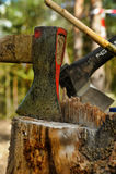 An ax stuck Royalty Free Stock Photos
