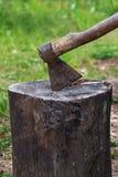 Ax and stump Royalty Free Stock Photo