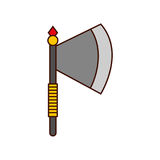 Ax weapon warrior game. Illustration design Royalty Free Stock Image