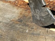 Ax in wood Royalty Free Stock Image