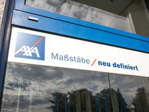 AXA slogan Stock Photo