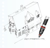 Axa41207. Vector isometric plane of the little house Royalty Free Stock Images