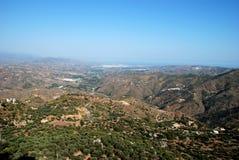 Axarquia Landschaft, Andalusien, Spanien. Lizenzfreie Stockbilder
