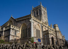 Axbridge Church Somerset England. Axbridge Church of St John town in Somerset, England, situated in the Sedgemoor district on the River Axe, near the southern Royalty Free Stock Photo