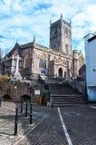 Axbridge-Kirche in Somerset Stockbilder