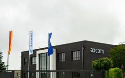 Editorial: 09.23.2018 Willich, Germany: AXCOM headquarter building. AXCOM headquarter building in Willich Germany stock image