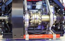 Axe à axe arrière de cas de transfert de plan rapproché de transmission de véhicule image libre de droits