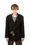 axe его карманный плохой костюм студента стоковое изображение rf