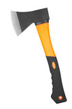 Axe. New orange axe isolated on white background stock photo
