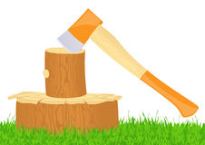 Axe. Iilustration, AI file included Royalty Free Stock Photography