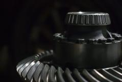 Axe avec le roulement à rouleaux et la vitesse hypoïde photographie stock