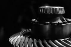 Axe avec le roulement à rouleaux et la vitesse hypoïde images stock