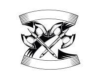 Axe badge Royalty Free Stock Photography