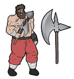 Axe barbarian Royalty Free Stock Photography
