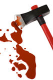 Axe and  blood Stock Photos
