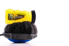 Axe Body Wash with Loofa Stock Photo