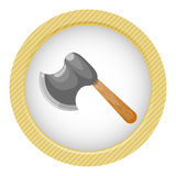 Axe colorful icon Stock Images