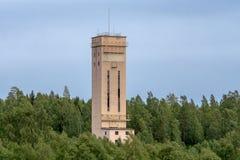 Axe d'ascenseur d'une mine fermée de bas en Suède image libre de droits